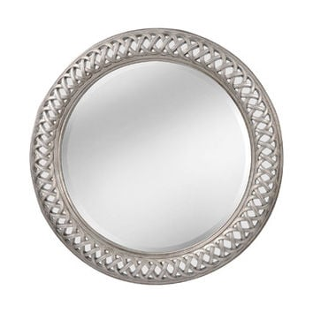 Mirror Masters Gunther Lattice Pattern Oversized Beveled Round Model