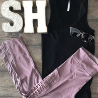 Mauve Capri Leggings
