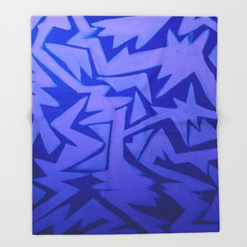 Electric Pop Throw Blanket by Ducky B