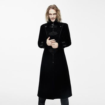 Long Men's Gothic Punk Steampunk Trench Coat