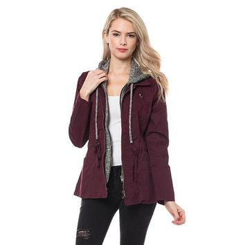 Shades of Autumn Jacket - Wine