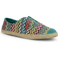 Sanuk Runaround Jute Peacock Multi Slip-On Sidewalk Surfers
