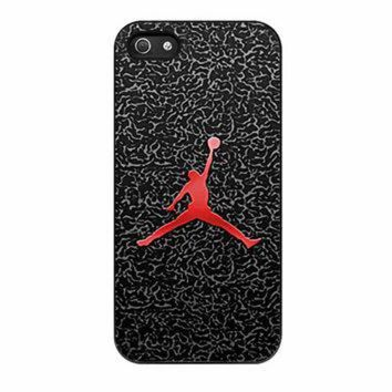 CREYUG7 Michael Jordan The Legend Flying iPhone 5 Case