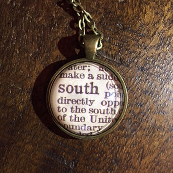 Map Necklace - South