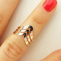 Casual V-Shape Rings Tail Ring Gift-224