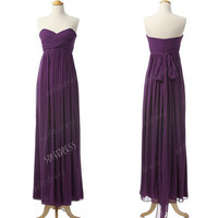 sweet heart bridesmaid dress, purple bridesmaid dresses, long bridesmaid dress, purple prom dress, evening dress,  BE0126