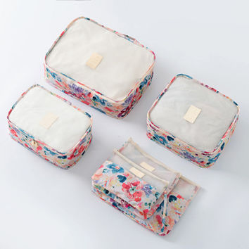 6 Piece Garden Party Packing Cube Set