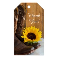 Country Sunflower Wedding Favor Tag