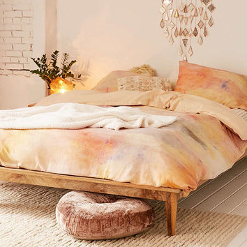 Josse Flannel Dyed Duvet Cover | Urban Outfitters