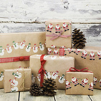 Christmas Character Wrapping Paper