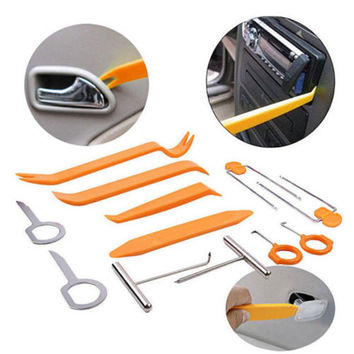 12pcs Car Disassembly Tools Car dvd player Stereo Refit Tools Interior Trim Panel Dashboard Installation Removal Pry CY018-CN+