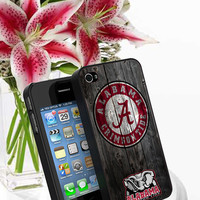 Alabama Crimson Tide - Print on cover for iPhone 4/4s, iPhone 5, iPhone 5s, and iPhone 5c case