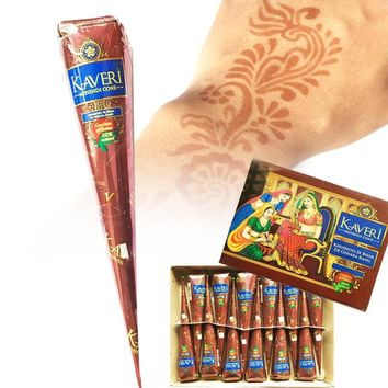 Natural Brown Indian Henna Tattoo Paste Cones Mehndi Henna Tattoo Paste Cream Finger Body Paint 25g temporary tatoos L3