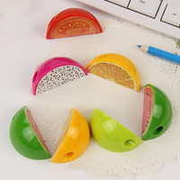 1pcs Watermelon And Dragon Fruit Pencil Sharpener Fruit Plastic Pencil Sharpener Stationery Supplies
