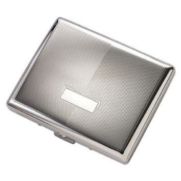 MG Gifts Double Sided Silver Cigarette Case For 20 Of 100