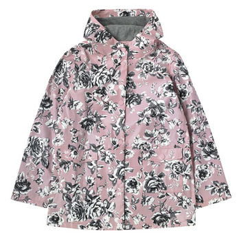 ETCHED FLORAL RUBBERISED RAINCOAT