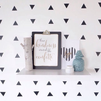 Triangle Decals. Geometric Wall Decor. Vinyl Decals. Wall Decal. Living room wall decal. Wall sticker. Home decor decals. Triangle Stickers