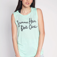 Summer Hair Muscle Tank