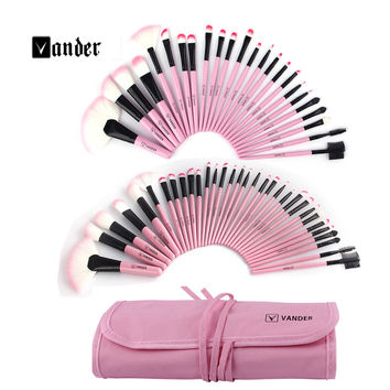 Women's 24 /32 pcs/kits Make Up Brush Set Professional Cosmetic Face & Eye Styling Tools Powder Makeup Brushes + Bag maquiagem