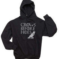 New Crows Before Hoes Game Of Thrones Unisex Hoodie S to 3XL