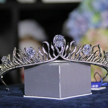 Bridal Wedding Crystal Tiara Crown Princess Pageant Prom Queen Rhinestone Bridal Tiara Wedding Accessories Headpiece Headband
