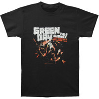 Green Day Men's  Chicago Event 2010 T-shirt Black