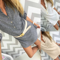 Lisa Half Sleeve Sweater Dress