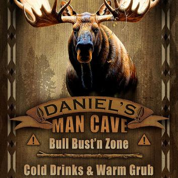 Man Cave Personalized Print / Poster / Sign / Moose