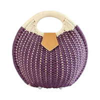 Snail's Nest Tote Handbag Summer Beach Bags Woman Straw Bags Women's Handbag Rattan Bag