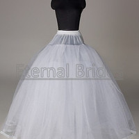 wedding dress accessories/ball gown petticoat/underskirt/slip/crinoline/without hoops/ 4 layers