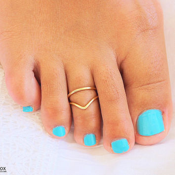 Gold Toe Ring, Silver Toe Ring, Rose Gold Toe Ring, Toe Ring Sterling Silver,Foot Jewelry,Adjustable Toe Ring,Body Jewelry,Set of 2Toe Rings