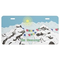 The Himalayas License Plate