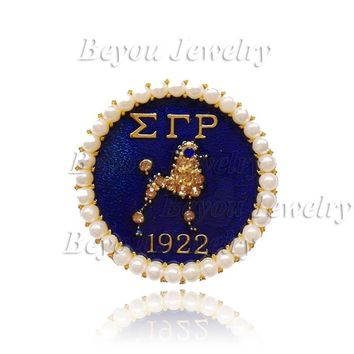 Sigma Gamma Rho Lapel Poodle Pin jewelry BGLO 'Divine 9'