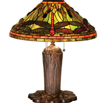 25 Inch H Tiffany Dragonfly Table Lamp