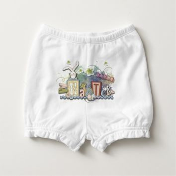 Happy First Easter Bunny Baby Diaper Bloomers