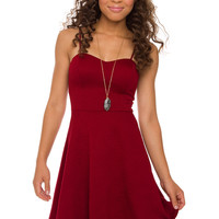 Alina Dress - Wine