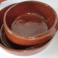 Robert Weiss Soup Cracker Bowls Brown
