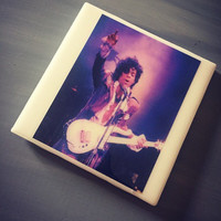 Prince Ceramic Tile Drink Coaster; Purple Rain; Music Lover; Home Decor; House Warming Gift; Musicians; Iconic Artisit; Rock and Roll;