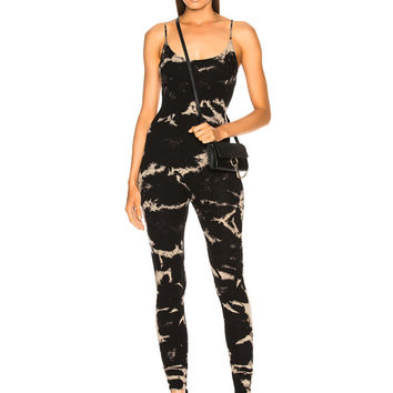 Enza Costa for FWRD Rib Fitted Strappy Jumpsuit in Black Ionic | FWRD