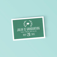 Fun Modern College Grad announcement - Printable Graduation Announcement Invitation - DIY Ready to print invitation
