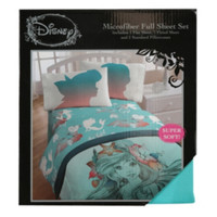 Disney The Little Mermaid Microfiber Full Sheet Set
