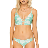 AMUSE SOCIETY - Tyler Floral Top | Coastal Green