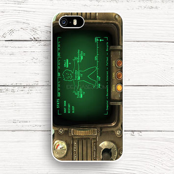 iPhone 4s 5s 5c 6s Cases, Samsung Galaxy Case, iPod Touch 4 5 6 case, HTC One case, Sony Xperia case, LG case, Nexus case, iPad case, fallout pipboy rainmeter Cases