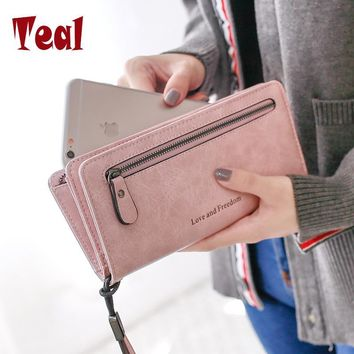 Women Purse Wallets pu Leather Famous Brand Designer Luxury Long Wallet Women Wallets Female Bag Ladies Vintage Simple fashion