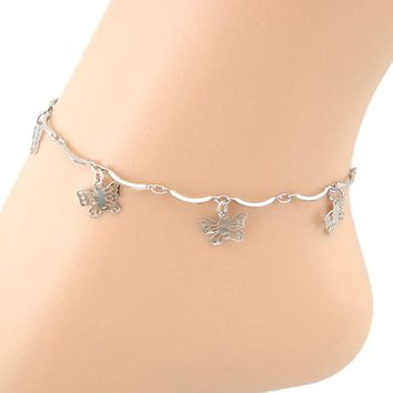 Curve Butterfly Anklet Foot Jewelry