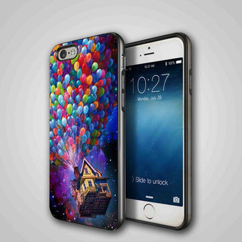 up ballon galaxy, iPhone 4/4S, 5/5S, 5C Series Hard Plastic Case