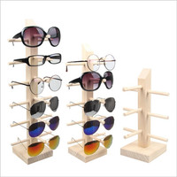 Wood  display stand for glasses 3d glass display frame Sunglasses display stent props four style