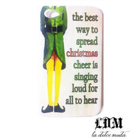 CHRISTMAS phone CASE elf movie quote iPhone 4 iPhone 4s iPhone 5 elf quote hard plastic phone case