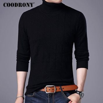 COODRONY 100% Merino Wool Sweater Men 2017 New Autumn Winter Thick Warm Turtleneck Sweaters And Pullovers Cashmere Pullover 7306