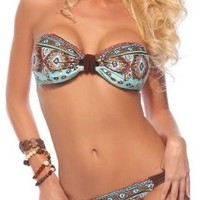 Sexy Two Piece Bandeau Ruched Brazilian Bikini Swimsuit:Amazon:Clothing